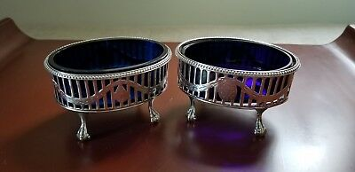 Pair Sterling Master Salts London 1756-1775 Philip Rundell? No Reserve