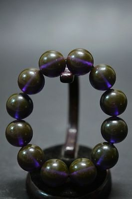 Exquisite china High-grade amber Glowing beads 12 bead Bracelet