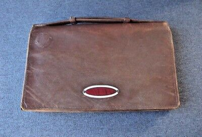 Antique art deco flapper enamel clasp genuine leather clutch purse bag