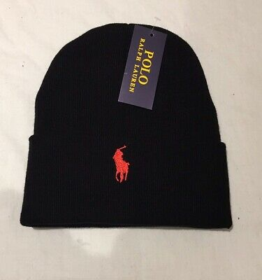 Adults One Size Ralph Lauren Polo beanie hats(grey & black pony)70%off !