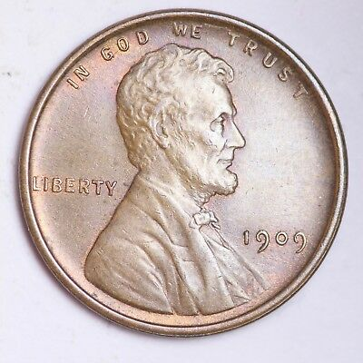 UNCIRCULATED 1909 V.D.B. Lincoln Wheat Cent Penny FREE SHIPPING