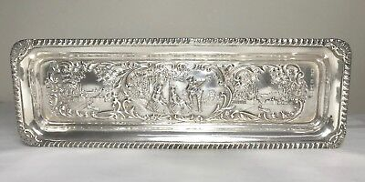 Rare antique English sterling silver Tray , Birmingham, hallmarked 1900