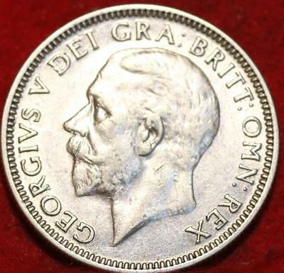 1936 Great Britain Shilling Silver Foreign Coin