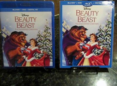 Beauty and the BeastAn Enchanted Christmas(Blu-ray/DVD/Digital)SCover/Lithograph