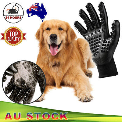 1 Pair Dog Horse Pet Grooming Gloves Brush Hair Remover Shedding Massage Cleaner