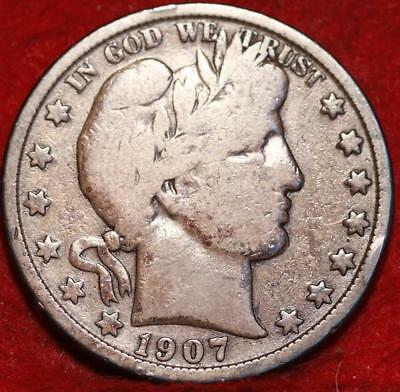 1907-O New Orleans Mint Silver Barber Half Dollar