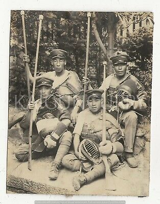 Original Wwii Japanese Photo: Army Kendo Fighters!!