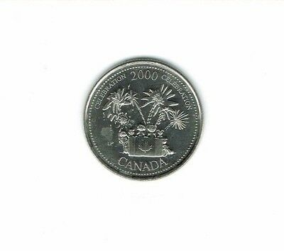 2000 Canadian Brilliant Uncirculated Commemorative Celebration 25 Cent Coin!