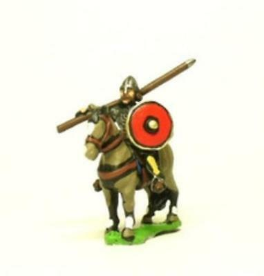 Essex Dark Ages 15mm Heavy Cavalry in Mail w/Lance and Round Shield Pack MINT