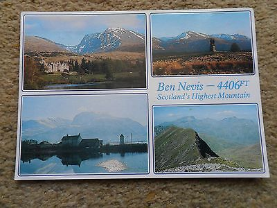 Whiteholme.postcard.multi-View Of Ben Nevis With 4 Views. Posted From Oban