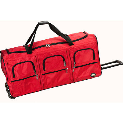 """Rockland Luggage Voyage 4 40"""" Rolling Duffel 3 Colors Softside Checked NEW"""