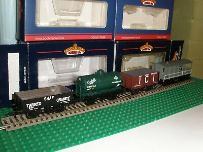 BACHMANN 37682 CROSFIELD 14t TANK WAGON ICI  SHAP TOAD BRAKE VAN JOB LOT of 4