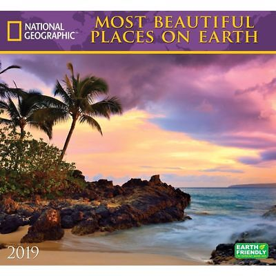 2019 Most Beautiful Places on Earth Wall Calendar, Nature by Zebra Publishing