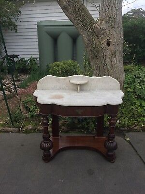 Antique Victorian Marble Top Wash Stand!