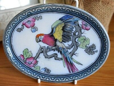 Keeling & Co. Losol Ware Andes Parrot Pattern Dish - Wall Hanging (refD38)