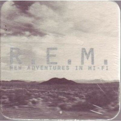 REM New Adventures In Hi Fi COASTER USA Warner Bros Promo Only Square Card