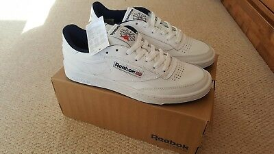 a5ea77a8c58 Men s white Reebok Club C 85 gum sole trainers shoes UK size 7 EU 41 NEW