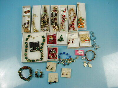 Huge Lot of 30 Costume Dress Up Jewelry Rings  Bracelets Necklaces & Pins