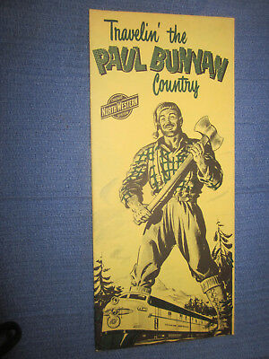 Vintage Chicago & North Western RR System Paul Bunyan Country Brochure
