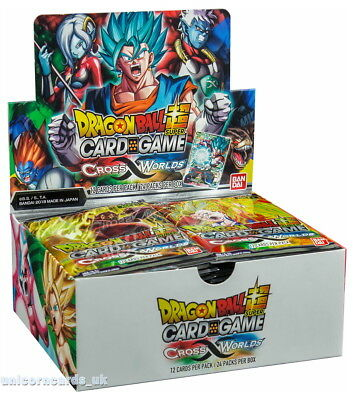 DragonBall Super Card Game - Booster Box 3 ::  Cross Worlds  :: Brand New And Se