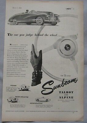1954 Sunbeam Talbot & Alpine Original advert No.1