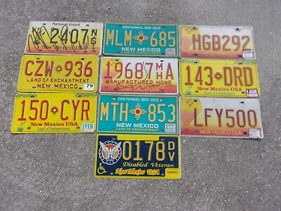 10 New Mexico  # 3 license plate lot for collecting or decorating
