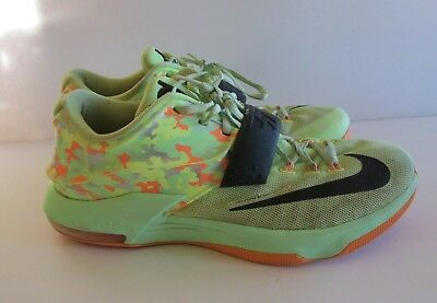 low priced a08b1 2742a KD Nike Zoom Easter 7 VII Mens Size 11 US Lime Green BLK Vapor Camo 653996