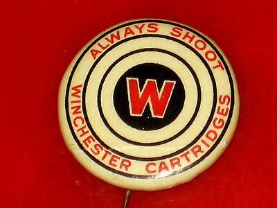 Vintage 1900'S Winchester Cartridges Pin Pinback Button Badge