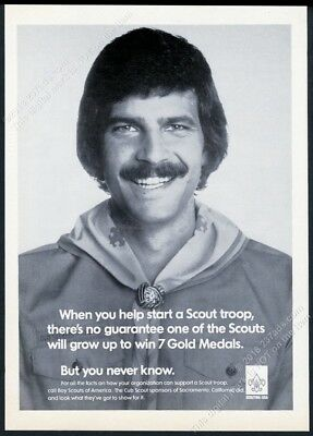 1979 Mark Spitz photo Boy Scouts of America Scout Scouting vintage print ad