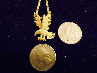 bling gold plated bald eagle bird MASCOT FASHION JEWELRY pendant charm necklace