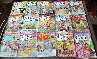Collection of 15 Viz! comics, between issues 230 and 268, classic British humour