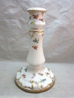 Antique German Porcelain candlestick. Dresden Germany