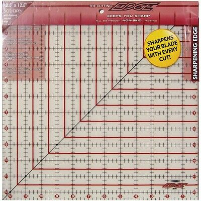 """Sullivans The Cutting Edge Frosted Ruler-12-1/2""""x12-1/2"""""""