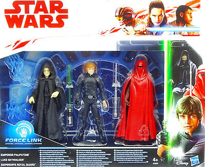 Star Wars Return Of The Jedi Collector Set Palpatine, Royal Guard & Luke Hasbro