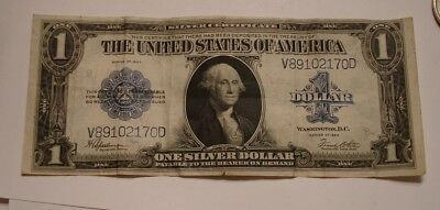 1923 $1 LARGE SIZE Silver Certificate Bank Note Blue Seal ONE DOLLAR