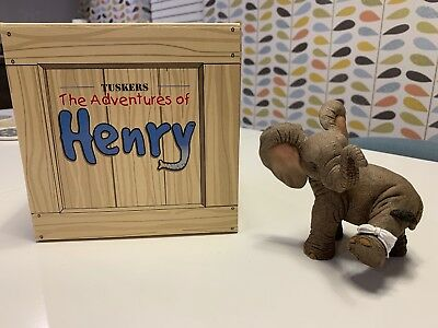 Kiss It Better Henry Tuskers Elephant Ornament - used, excellent condition + box