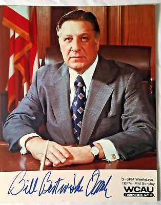 "Frank Rizzo AUTOGRAPHED 8x10 "" To Bill "" Philadelphia PA Mayor In Person 1970's"