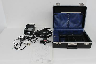KEELER Dualite Vintage Binocular Ophthalmoscope Set In Leather Carry Case