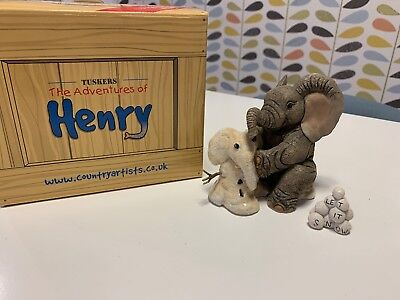 Let It Snow Henry Tuskers Elephant Ornament - used, good condition + box