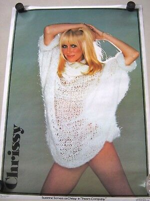 """Suzanne Somers """"Chrissy"""" Orig. vintage Poster - """"1980"""" Exc.+ new cond.-20 x 28"""""""