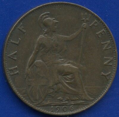 1906 Great Britain Half Penny Coin