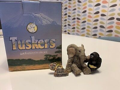 Love Is Your Last Banana!! Tuskers Elephant Ornament + Box. Excellent condition.