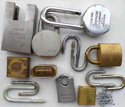 Lot   PADLOCK, PARTS... AMERICAN,MASTER,YALE...     LOCKSMITH