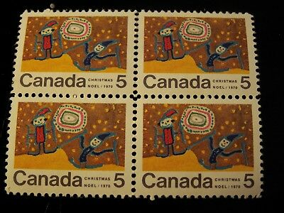 CANADA - #522pi TAGGED MINT NH center block of 4 CAT. VALUE  $200.00 SCARCE!