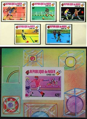 NIGER 1981 UNLISTED ImPerf MNH Sheet+Set, Soccer, Football FIFA World Cup Spain