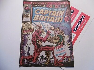 'Captain Britain' Comic No.2, October 20th 1976, with Free Gift.