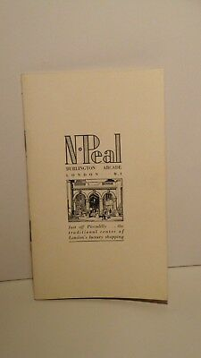 Vintage N Peal Mini Catalog-Cashmere Sweater-Male/Female-London-16pg