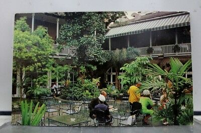 Louisiana LA New Orleans Brennan French Restaurant Patio Postcard Old Vintage PC