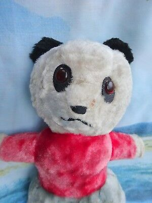 """Lovely antique old teddy bear Panda collectable vintage 14"""" clown collectable"""