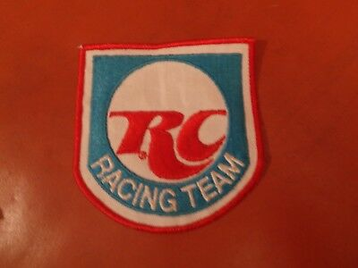 Rc Cola Racing Team Patch - New Vintage - Original 4 X 3 3/4 Inches Royal Crown